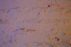 底部砖褐色纹理顶层墙壁黄色 免版税库存照片