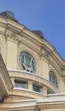 庙详细资料罗马尼亚人冬天 免版税库存图片