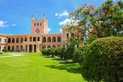 总统府在亚松森,巴拉圭 库存图片