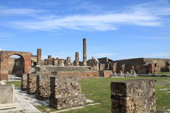 庞贝城废墟,意大利 免版税图库摄影