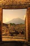 庞贝城废墟  免版税库存图片