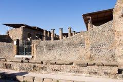 庞贝城是在79公元埋没的古城 从爆发  库存照片