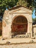 庞贝城,古老罗马城市废墟  波纳佩,褶皱藻属 意大利 免版税库存图片
