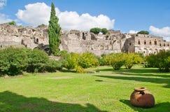 庞贝城,意大利 免版税库存图片