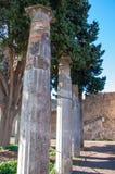 庞贝城,最保存良好的考古学站点在世界上,意大利 免版税图库摄影