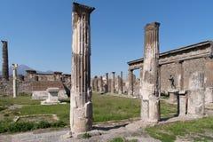 庞贝城废墟,联合国科教文组织世界遗产名录站点,意大利 库存图片