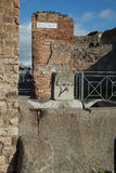 庞贝城废墟 免版税图库摄影