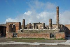 庞贝城废墟 库存图片