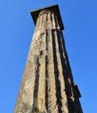庞贝城柱子  免版税库存图片
