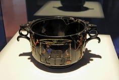 庞贝城罗马花瓶 免版税库存图片