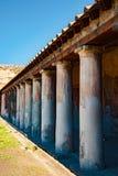 庞贝城著名古色古香的站点,在那不勒斯附近 库存图片