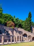 庞贝城著名古色古香的站点,在那不勒斯附近 库存照片