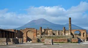 庞贝城,意大利废墟 库存照片