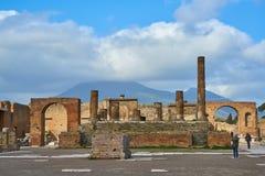 庞贝城,意大利废墟 免版税图库摄影