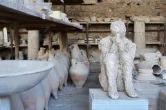 庞贝城,意大利废墟 免版税库存照片