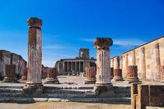 庞贝城,意大利的考古学挖掘 库存图片