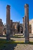 庞贝城,意大利的考古学挖掘 免版税库存照片