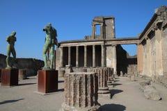 庞贝城,意大利,联合国科教文组织 库存图片
