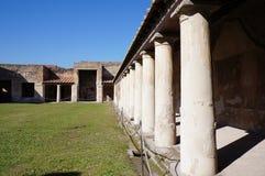 庞贝城,被破坏的罗马城市 免版税库存照片