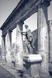 庞贝城 阿波罗雕象 免版税图库摄影