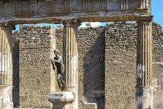 庞贝城 阿波罗雕象 库存照片