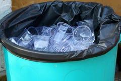 废塑料垃圾箱 免版税库存照片