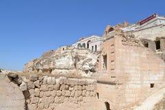 废墟在卡帕多细亚 免版税图库摄影