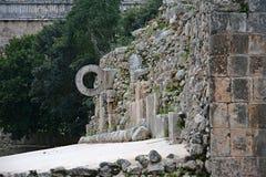 废墟在古老玛雅站点乌斯马尔,墨西哥 免版税图库摄影
