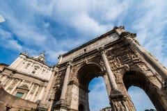 废墟在古老罗马 库存图片