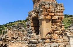 废墟在土耳其,以弗所古庙选址 免版税库存图片