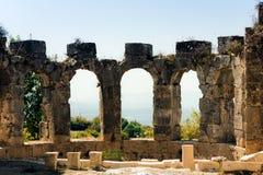 废墟在土耳其 图库摄影