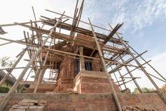 废墟在地震以后的加德满都市Bhaktapur 2017年12月 库存图片
