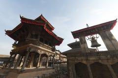 废墟在地震以后的加德满都,市Bhaktapur 2017年12月 免版税库存照片