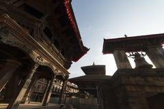 废墟在地震以后的加德满都,市Bhaktapur 2018年12月2017 免版税库存图片