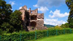 废墟在意大利 免版税库存照片