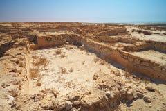 废墟在沙漠 库存照片