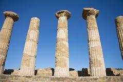 废墟在阿哥里根托,西西里岛 免版税库存图片