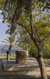 废墟在Capernaum-在加利利海,以色列的海滨 免版税图库摄影
