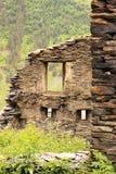 废墟在Dartlo村庄 Tusheti地区(乔治亚) 免版税库存图片
