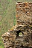 废墟在Kvavlo村庄 Tusheti地区(乔治亚) 免版税库存图片