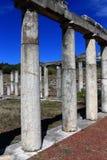 废墟在Messini,希腊古城 免版税库存照片