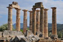 废墟在Nemia,希腊 免版税库存照片