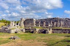 废墟在Tulum,墨西哥 库存图片