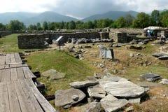 废墟在Ulpia Traiana奥古斯塔Dacica Sarmizegetusa 11 免版税库存图片