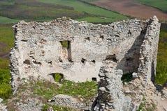 废墟城堡墙壁 免版税图库摄影