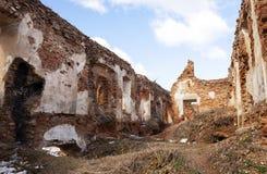 废墟城堡17世纪 免版税库存图片