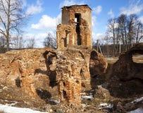 废墟城堡17世纪 库存图片