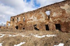 废墟城堡17世纪 免版税库存照片