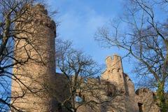 废墟城堡Auerbach (Auerbacher城堡) 图库摄影