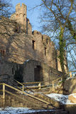 废墟城堡Auerbach (Auerbacher城堡) 免版税库存照片